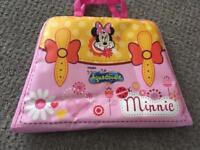 Travel aqua doodle Minnie Mouse