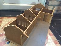 Utterly Horses Wooden 3 Stables Tack & Feed block