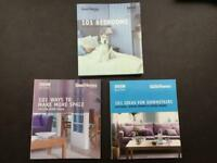 Set of 3 BBC books- 101 Bedrooms, ideas for downstairs, ways to make more space