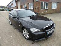 BMW 3 SERIES 2.0 318D M SPORT 4DR 141 BHP BLACK MANUAL DIESEL 12 MONTHS MOT CAT C ON HPI