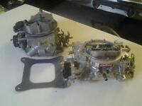 EDELBROCK  and HOLLEY CARBS LIKE NEW