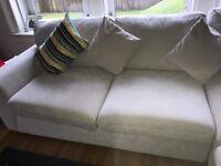 Grey corner sofa -emaculate!