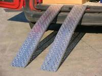 2-3 mt 1000kg 1ton lightweight aluminium loading ramps suitable for small plant digger motorbikes