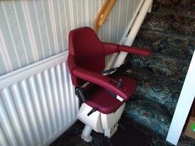 Easy Lift RH Curved Stairlift. As new condition.