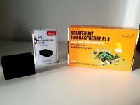 Raspberry Pi 3 + 16gb Sandisk Micro SD + Pi aluminium case