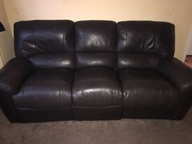 Brown leather sofa £50