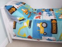Child bed, 58'' long x 30 '' wide max dims. over headboards,