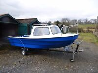dejon 14 feet cabin fishing boat