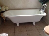 Rolltop bath with shower head and mixer taps £150 Excellent condition