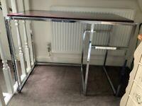 """Desk - """"Parker"""" desk: metal frame and wood/wood-effect work surface"""