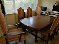Family table with 6 chairs