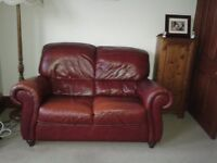 3 Piece Leather Sofa Suite - 1 x 2 seater, 2 x 1 seater