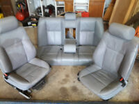 BMW 525i E39 grey leather seats