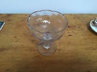 Antique glass stemmed sugar bowl