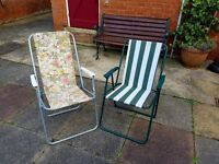 Folding Garden/Deck/Camping Chairs
