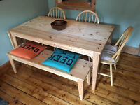 IKEA Nornas Dining Table & Bench with chairs