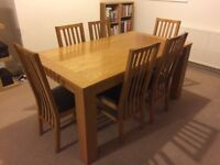 Park Furnishers Oak Extending Dining Table&6 Chairs