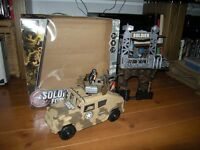 TOYS SOLDIER FORCE JEEP FIRE TOWER SOLDIER AUTOMATIC GUNS TOYS