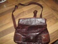 Vivenne Westwood small brown leather bag
