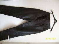 Ladies leather jeans size 12 (small)