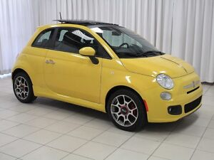 2012 Fiat 500 3DR HATCH 4PASS. FUN TO DRIVE !! w/ SUNROOF, ALLOY
