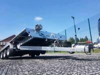 CAR TRANSPORTER TRAILER FLAT BED TILT BED TRI AXLE FARM EQUIPMENT MACHINE