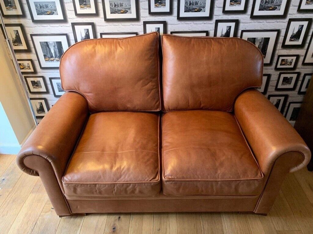 Astounding Tan Leather Sofa Two Seater In Plymouth Devon Gumtree Dailytribune Chair Design For Home Dailytribuneorg