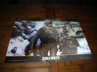 Call of duty 3D poster in good condition some scratches but is still good and good size poster