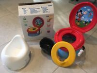 Micky Mouse Musical potty w free Mothercare potty