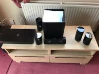 Samsung Blu Ray player and surround sound speakers