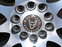 "Brand New WOLFRACE ALLOY WHEELS 215 45 17 TYRES Jaguar, Peugeot, Volvo 17"" INCH 5x108 alloys wheel"
