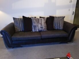 4 seater DFS sofa, excellent condition, no marks, foam inserts. dimensions: 246 by 98. Must collect