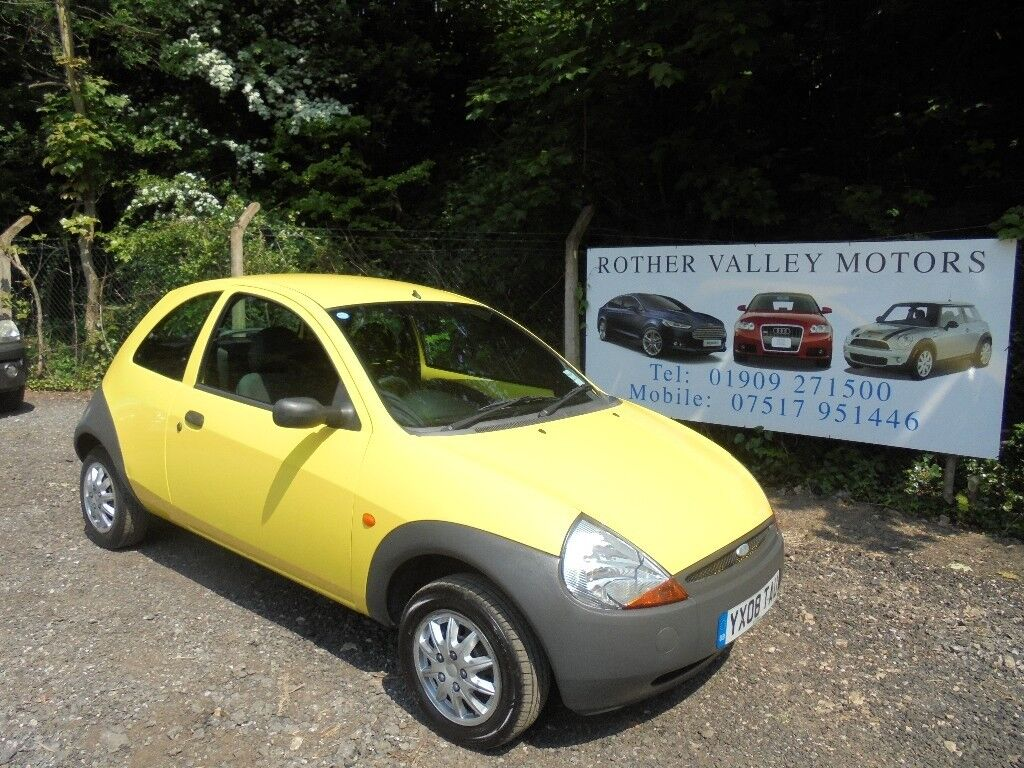 Ford Ka Studio In Yellow   Reg Water Pump And Belt Fitted St August  Service Receipts