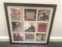 Beautiful Paris themed framed picture