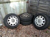 14 inch steel wheels VW hub caps