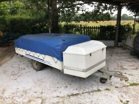 Used Conway Trailer Tent, large tent with headroom