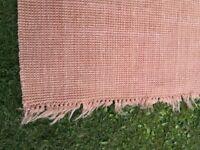 Blush pink hessian rug / mat / carpet £15