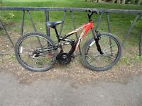 """Full Suspension Mountain Bike For Sale. Fully Serviced & Ready TO Ride. Guaranteed. 14"""" Frame"""