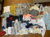 **LARGE BABY BOY BUNDLE 0-3 MONTHS CLOTHING**
