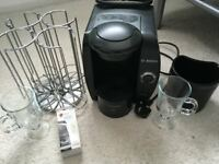 tassimo coffee machine with lots of extras