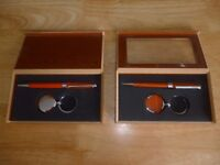 2 X WOODEN PEN GIFT SETS