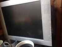 Silver monitor screen