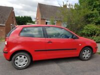 VW Polo 1.2 Petrol RED 2003 ( Spares or Repairs )