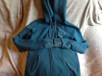 WOMEN'S TURQUOISE JACK WILLS HOODY. SIZE 8 UK. WORN BUT EXCELLENT CONDITION.