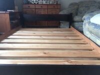 Solid Pine Bed, Cabinets and Mattress
