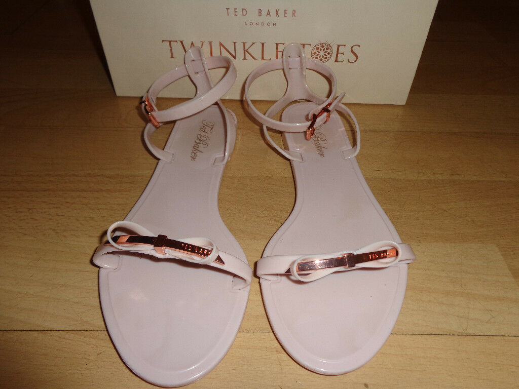 d233308705e2 Womens Ted Baker Nude and Cooper Jelly Sandals size 5 in box