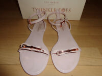 Womens Ted Baker Nude and Cooper Jelly Sandals size 5 in box