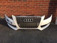 Genuine Audi a4 b8 s-line front bumper 08-13