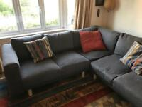 Corner sofa. Grey. Ikea norsborg