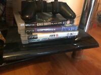 PS3 for sale with 4 games and controller no power cord or controller charging cord